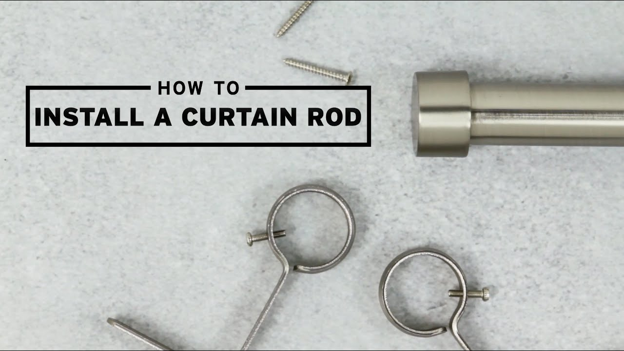 how to install a curtain rod umbra youtube. Black Bedroom Furniture Sets. Home Design Ideas