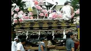 秩父市白久(旧荒川村) 神明社祭礼の屋台 平成17年7月31日