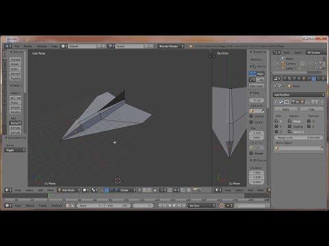 Using Blender to design Paper Beginner's Jet of Versova Paper Aircrafts