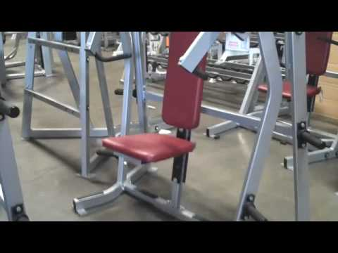Used Hammer Strength Iso Lateral Incline Bench Press For Sale Youtube