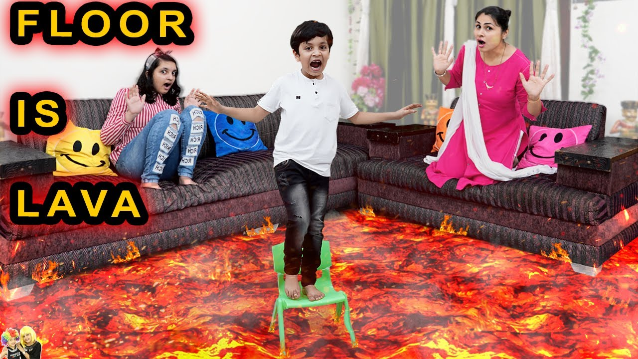 Download FLOOR IS LAVA | Comedy Family Challenge | Funny Fails | Aayu and Pihu Show
