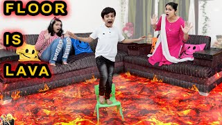 FLOOR IS LAVA | Comedy Family Challenge | Funny Fails | Aayu and Pihu Show