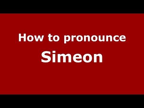 How to pronounce Simeon (American English/US)  - PronounceNames.com