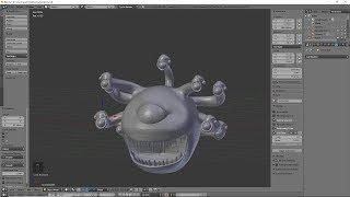 Beholder Mini 3D Modeling Blender Tutorial   Christmas 2018!