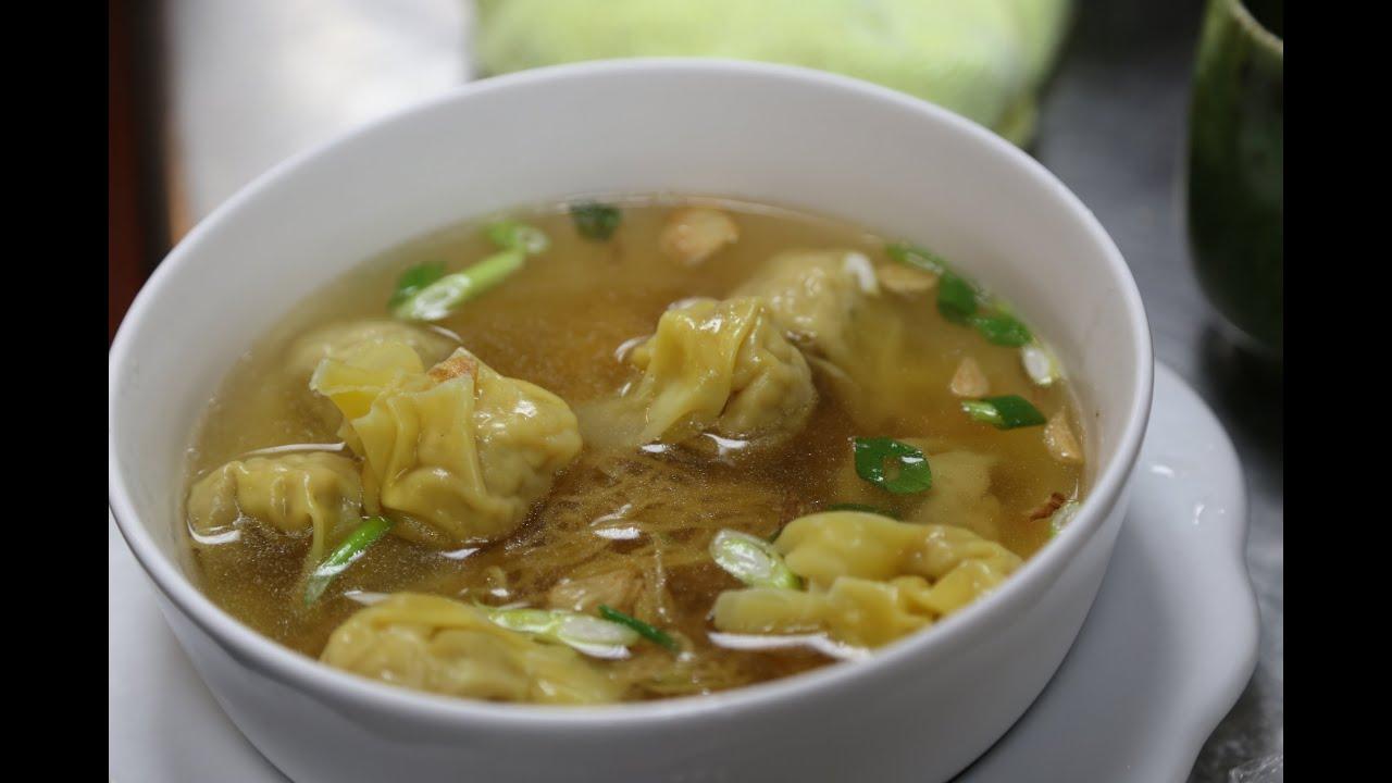 Hong Kong Style Wonton Noodle Soup 雲吞麺 - YouTube