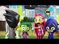TEEN TITANS GO! - Robin Unmasked - with Kid Flash Raven and Beast Boy Teen Titans Go Face Swappers