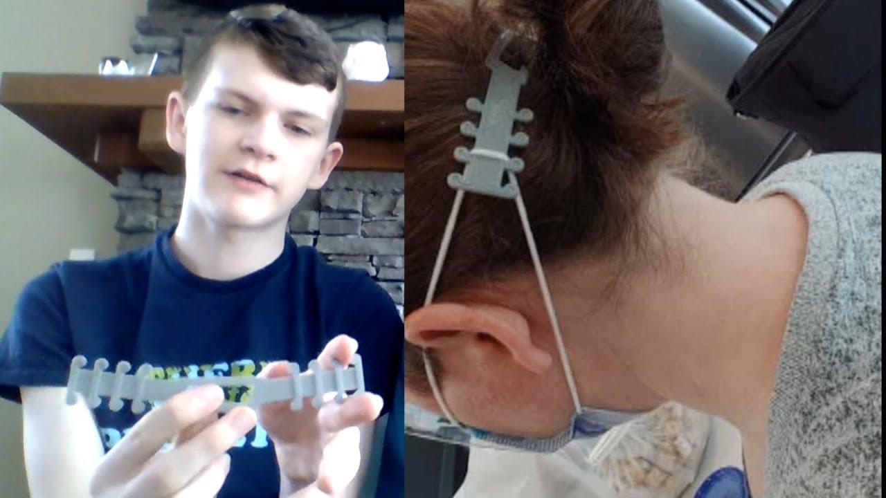 הילד שעוזר לרופאים מכל העולם בהתמודדות עם התאמת מסיכות הקורונה לפנים