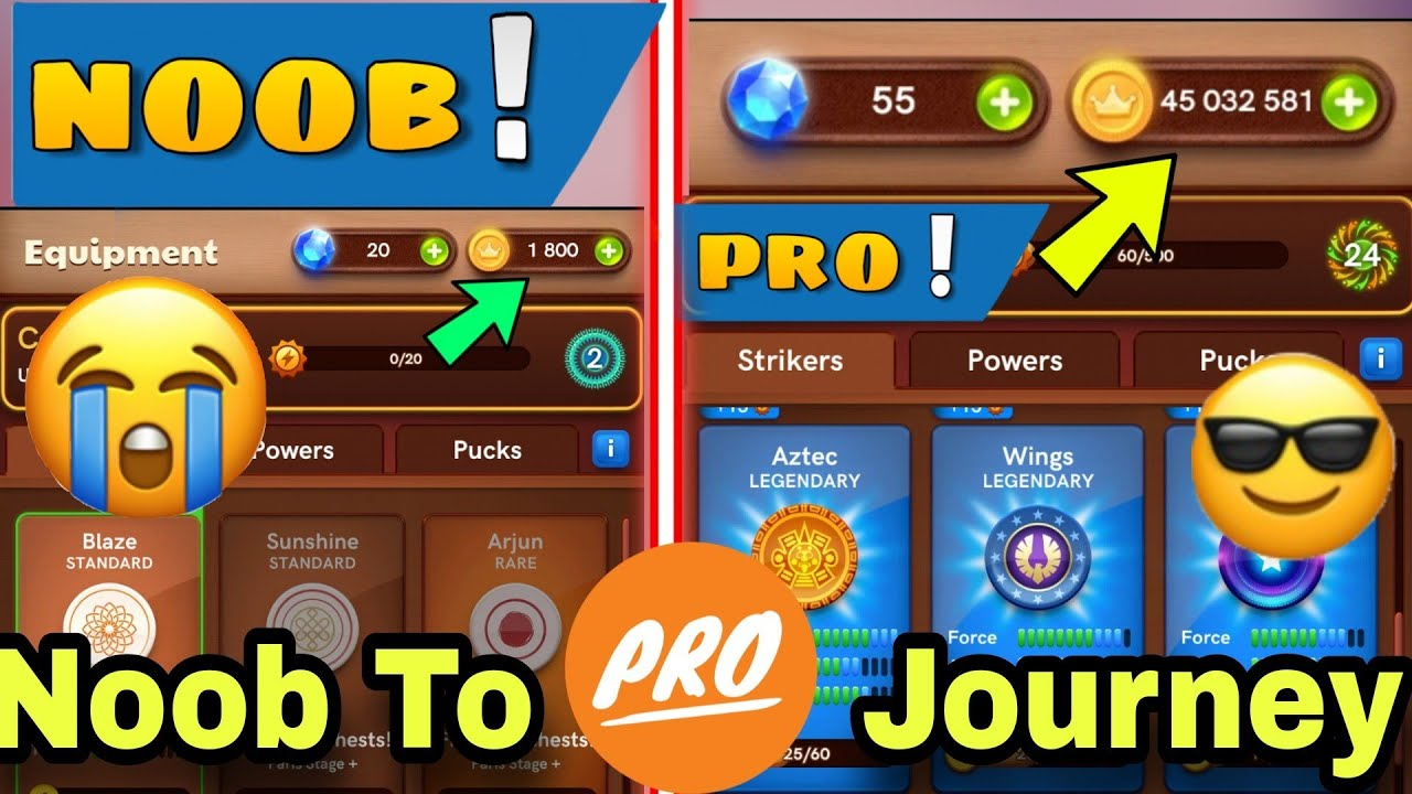 Carrom Disc Pool | Carrom Pool Noob To Pro Journey | Carrom Pool Game | Carrom Pool Tricks