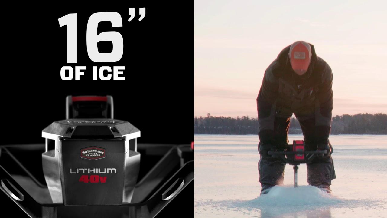 StrikeMaster Lithium 40v Electric Ice Auger
