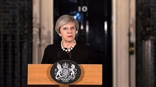 """British PM: """"We will never give in to terror and let voices of hate and evil drive us apart"""""""