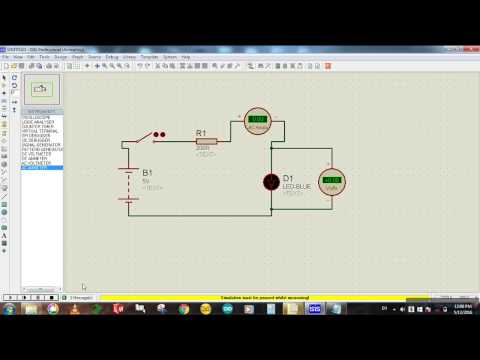 how to connect voltmeter & ammeter in a circuit? - proteus simulation -  youtube