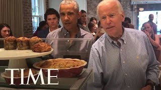 Barack Obama Reunited With Joe Biden At A Bakery To Support Veterans | TIME