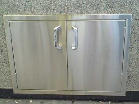 BBQ Outdoor presents Diablo Products Stainless Steel Doors & BBQ Outdoor presents Diablo Products Stainless Steel Doors - YouTube Pezcame.Com