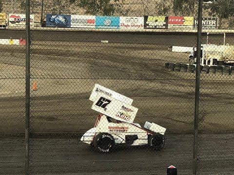 Grant Duinkerken 305 Sprint Car Main Event Win Bakersfield Speedway 6-30-18