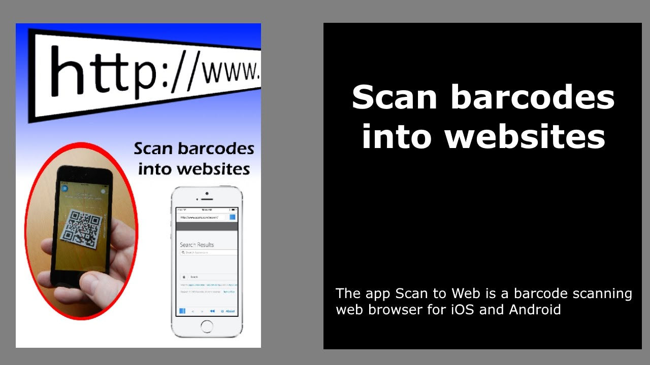 Barcode scan to web sites