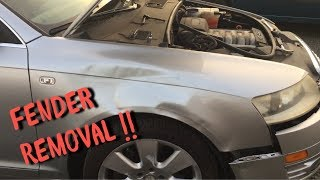 Audi A6 Fender Removal (c6) 2005-2009