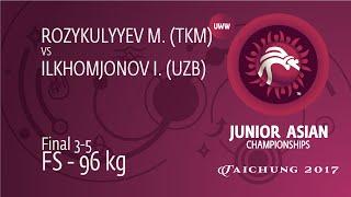 BRONZE FS - 96 Kg: I. ILKHOMJONOV (UZB) Df. M. ROZYKULYYEV (TKM), 7-4