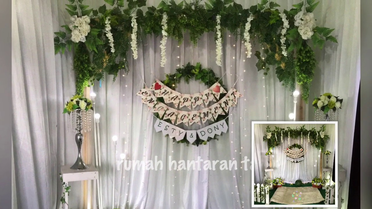 Diy Dekorasi Rustic Simpel Untuk Lamaran Simple Rustic Backdrop Decoration