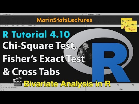 Chi-Square Test, Fisher's Exact Test, & Cross Tabulations In R | R Tutorial 4.10| MarinStatsLectures