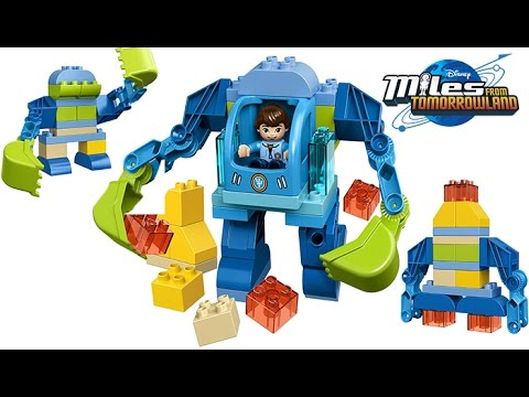 LEGO DUPLO MILES FROM TOMORROWLAND MILES EXO FLEX SUIT TRANSFORMS INTO ROCKET SHIP, ROBOT TOYS