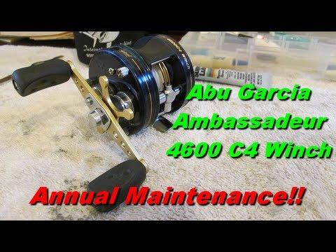 Abu Garcia Ambadeur C4 4600 Fishing Reel Maintenance on