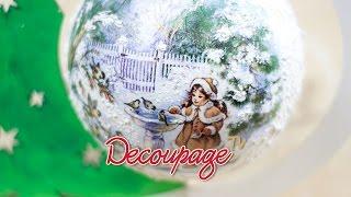 Decoupage - bombka choinkowa na stojaku - instrukcja krok po kroku