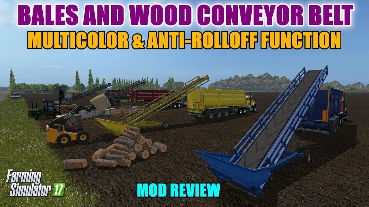 FS17 - Bales and Wood Conveyor Belt v1 0