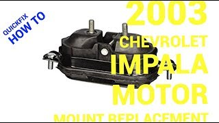 🤔How to replace a motor mount on a 2003 Chevrolet Impala😊