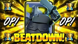 NEW MINI PEKKA BEATDOWN DECK!! SECRET HIGH POWER COMBO!!