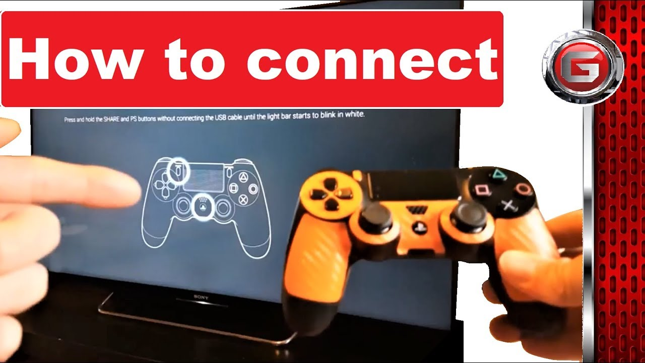 How To Connect - Connecting Ps4 Controller To Sony Bravia