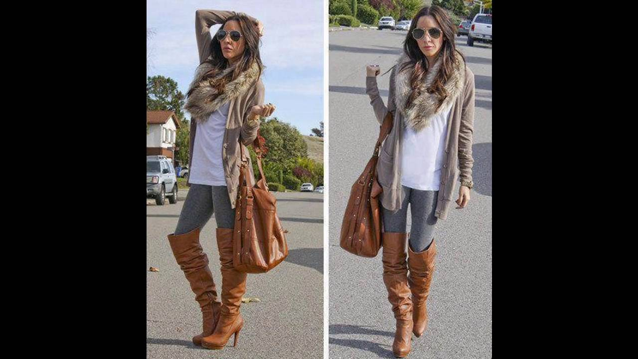 c6f9cb060 Outfits de moda con botas cafes largas - YouTube