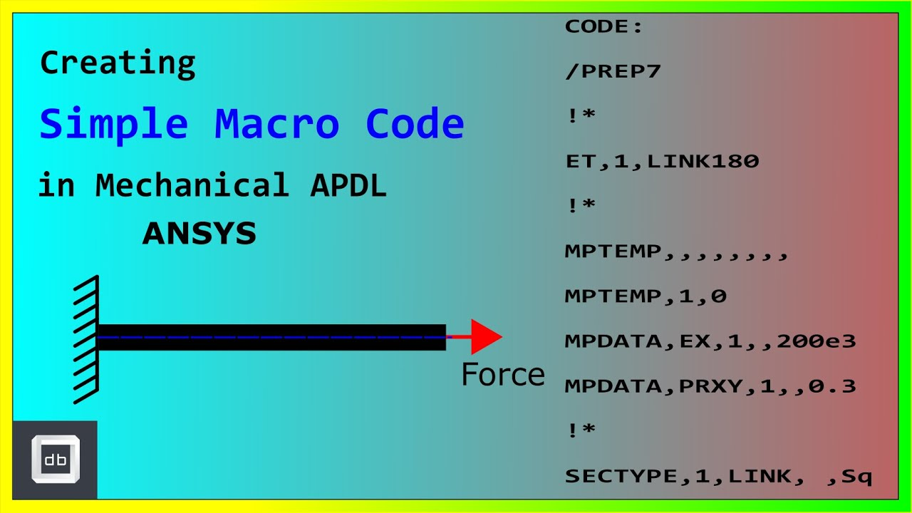 Creating Simple Macro Code in Mechanical APDL (ANSYS) - A Bar Problem