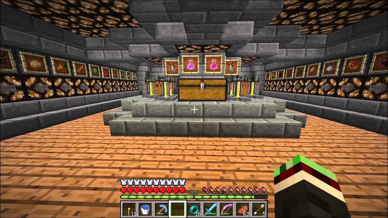 Minecraft - Underground survival base tour - YouTube