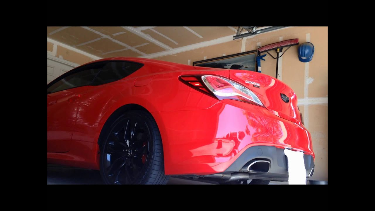 2013 hyundai genesis coupe 3 8 r spec exhaust sounds race [ 1280 x 720 Pixel ]
