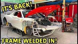 Download Rebuilding A Wrecked Ferrari 458 Spider Part 7 Mp3 and Videos