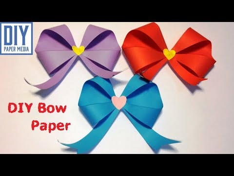 How to make an easy origami bow paper | Ribbon | DIY bow crafts paper