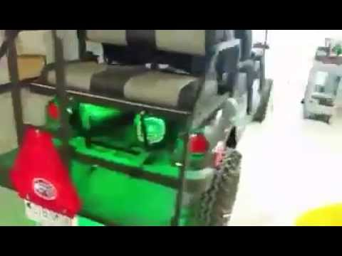 Yamaha Golf Cart With Sound System Installed By Custom