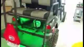 yamaha golf cart with sound system installed by custom sounds in san antonio tx
