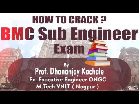 BMC Sub Engineer Exam Strategy by Dhananjay Kachale Ex Executive Engineer ONGC.