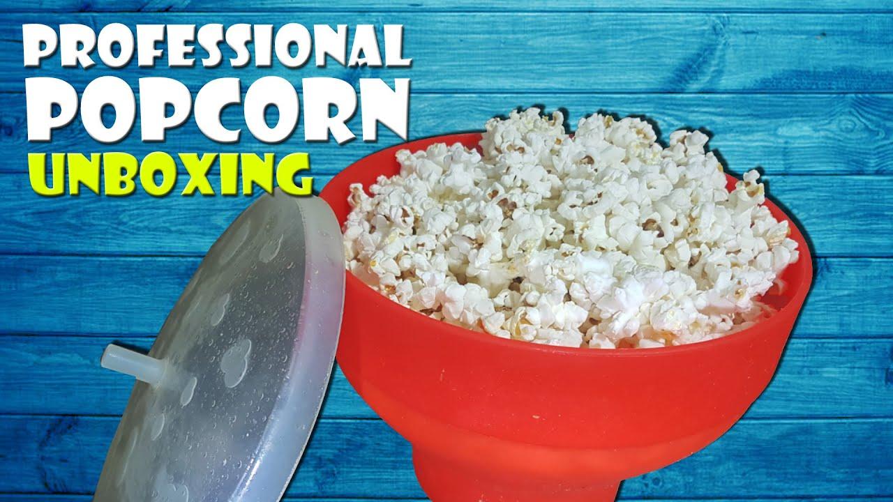 unboxing mikrowellen popcorn mit silikon schussel microwave cinema popcorn maker