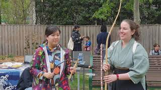 How to hold Kyudo ( Japanese Bow and Arrow ) free tutorial at the park / October 27, 2019