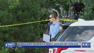 Cary home robbery suspect fatally shot by police