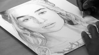Daenery Targaryen Ballpoint Pen Drawing - Game Of Thrones - Freehand Art