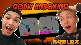 UNBOXING NEW HALLOWEEN BONEBLADE GODLY!! 300+ KEYS (Roblox Murder Mystery 2)