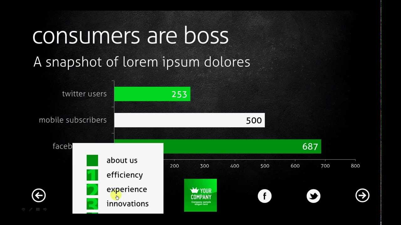 interactive powerpoint presentation template - youtube, Presentation templates