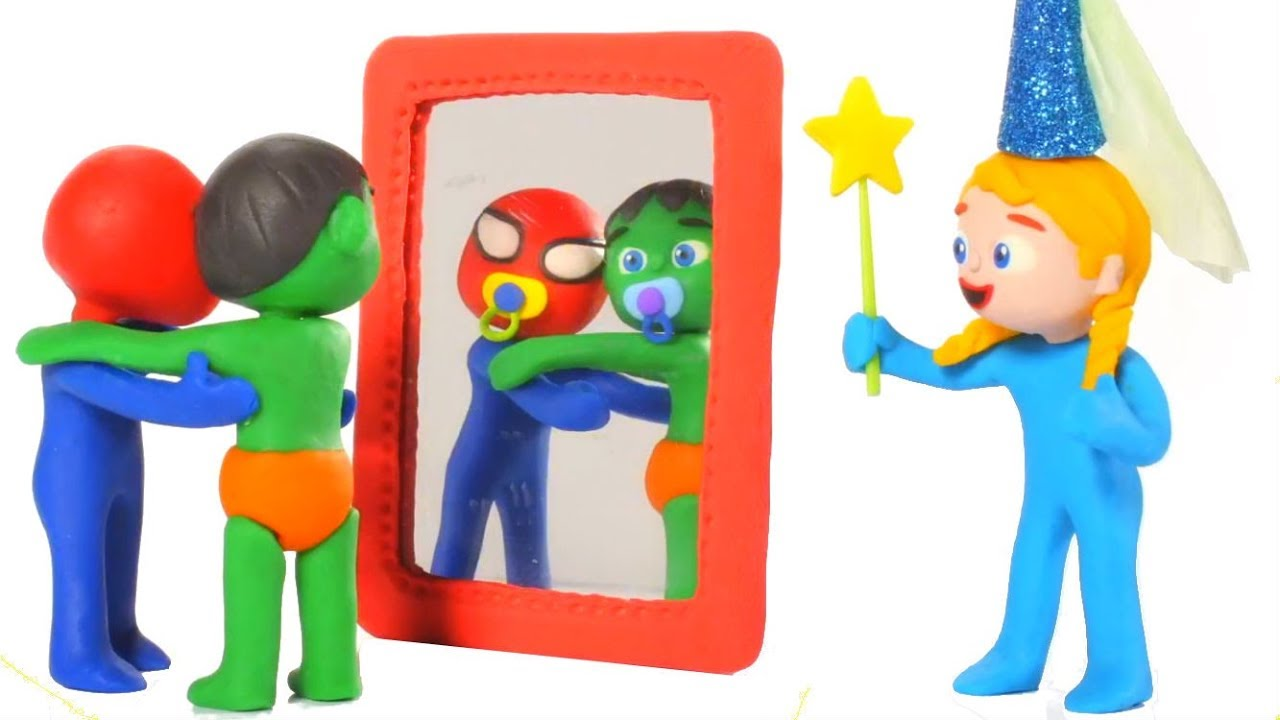 SUPERHERO BABIES PLAY WITH MAGIC ❤ SUPERHERO PLAY DOH CARTOONS FOR KIDS