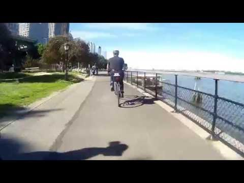 NYC Bicycle Commute - 97th St to Chelsea via Hudson Greenway