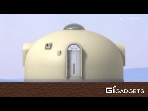 Japan dome house japanese dome house can be safe in for Dome house in japan