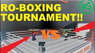 RO-BOXING TOURNAMENT FOR ROBUX!! | Roblox: RO-BOXING