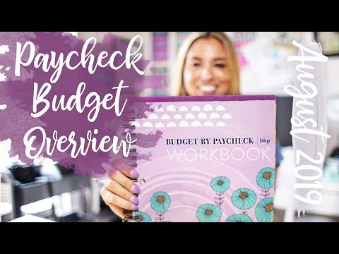 August 2019 Paycheck Budget Overview